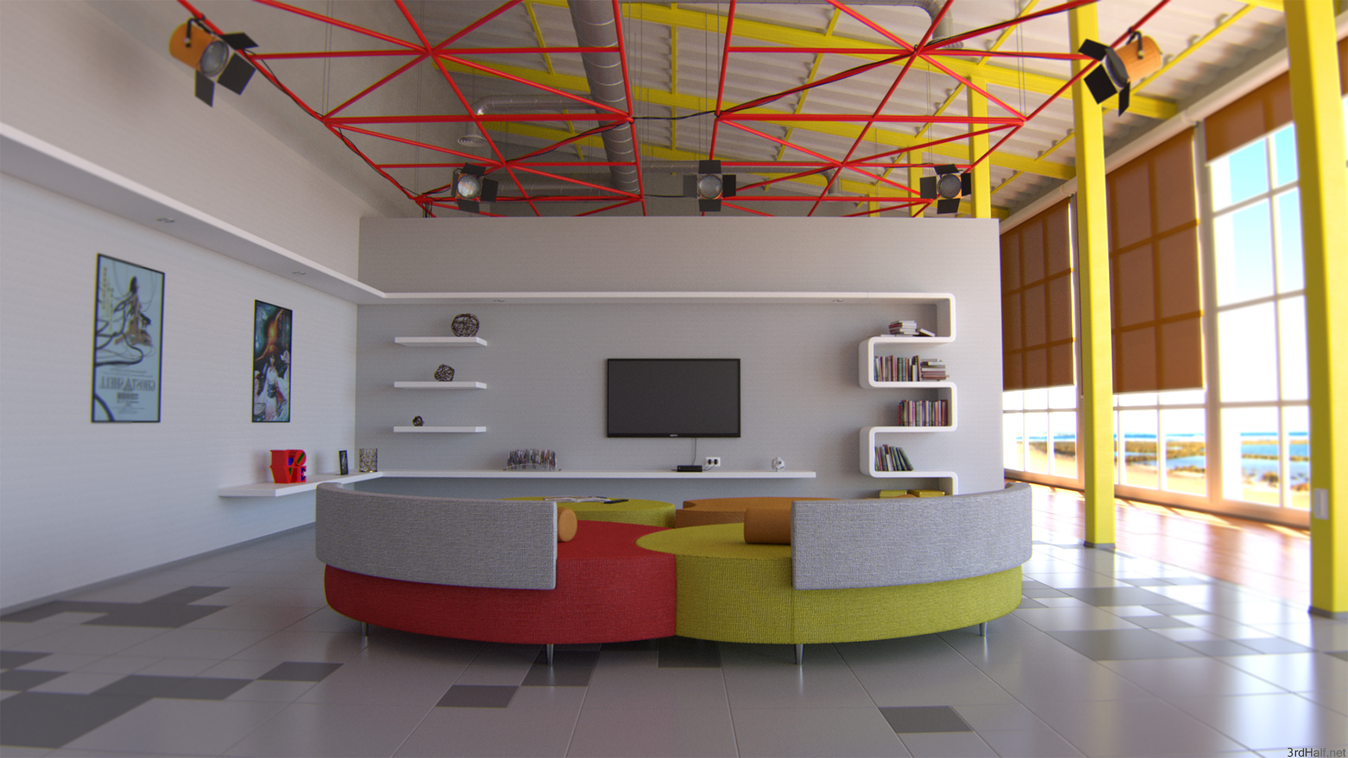 Anime inspired interior design for Decoration 3ds max