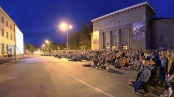 Outdoor cinema in Valmiera