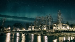 Aurora Borealis in City